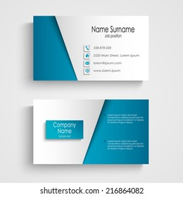 Modern light blue business card template