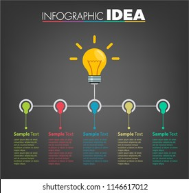 modern Light bulb text box template for website computer graphic technology, banner Infographics