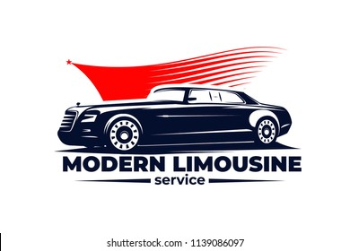modern limousine vector illustration