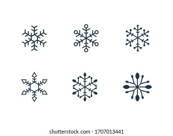 Modern line art ice vector that contain 6 vector