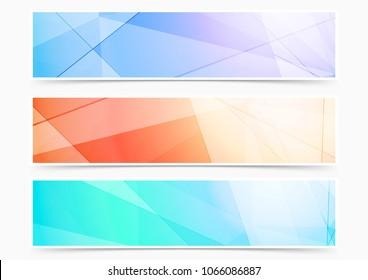 Modern line pattern contemporary futuristic header design collection. Vector illustration