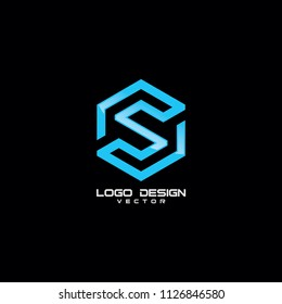 Modern Linear S Symbol Logo Template