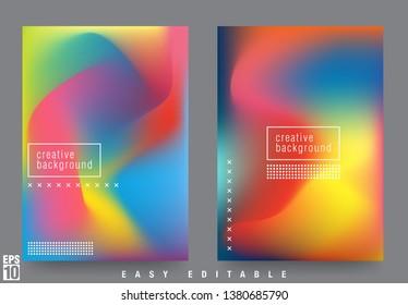 Modern Liquid Cover Design Template