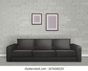 Commercial Office Paint Color Ideas, Black Leather Couch Images Stock Photos Vectors Shutterstock