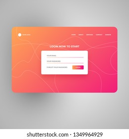 Modern login & Signup Page Design Concepts. You can use it for multipurpose web projects.