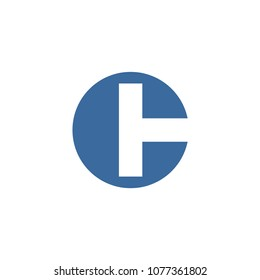 modern logo combination letter c with letter t