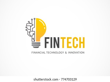 Modern logo concept for fintech and digital finance industry