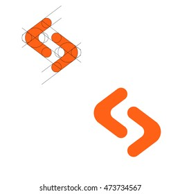 Modern logo concept. Letter s. Template project, business card. Vector illustration.