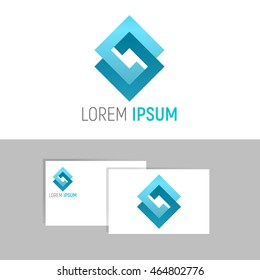 Modern logo concept. Template project, business card. Vector illustration.