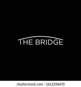Modern logo design of bridge with clean background - EPS10 - Vector.