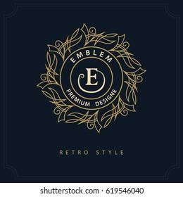 Modern logo design. Geometric initial monogram template. Letter emblem E. Mark of distinction. Universal business sign for brand name, company, business card, badge. Vector illustration