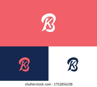 Modern logo design with KB