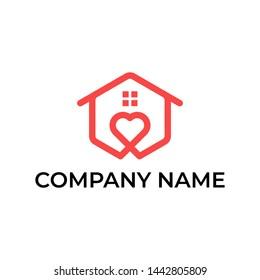 Modern logo design for love home