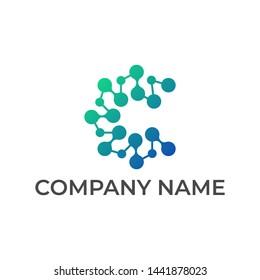 Modern logo design for technology connection