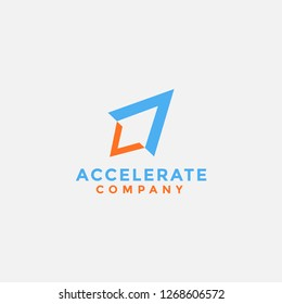 modern logo icon of accelerate abstract rocket