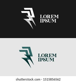Modern Logo Illustration for Business Company with Initial Double Letter R Template Vector