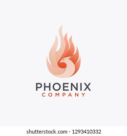 Modern logo of phoenix flame inspiration