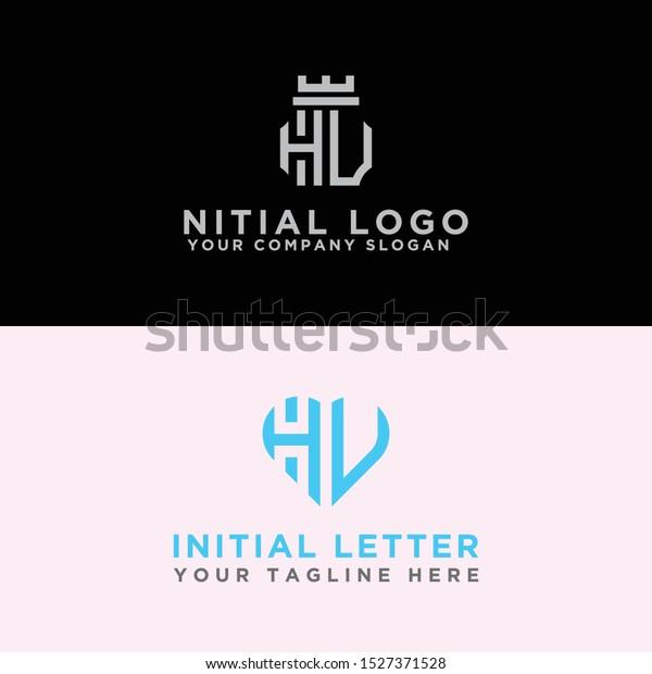 Modern Logo Set Hv Logo Designs Stock Vector Royalty Free 1527371528