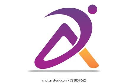 Modern Logo Solution Letter D A