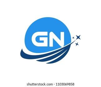 Modern logo solution Letter GN
