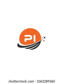 Modern logo solution Letter PI