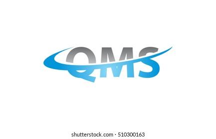 Modern Logo Solution Letter QMS