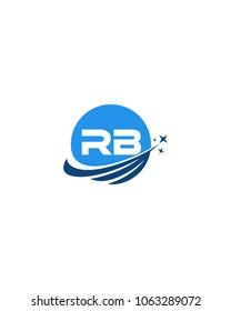 Modern logo solution Letter RB