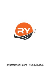 Modern logo solution Letter RY