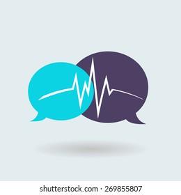 modern logo stay chatting. life online. communication. vector