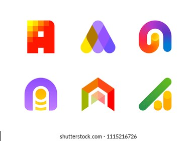 Modern logo template or icon of abstract letter A for accounting and auditing industry