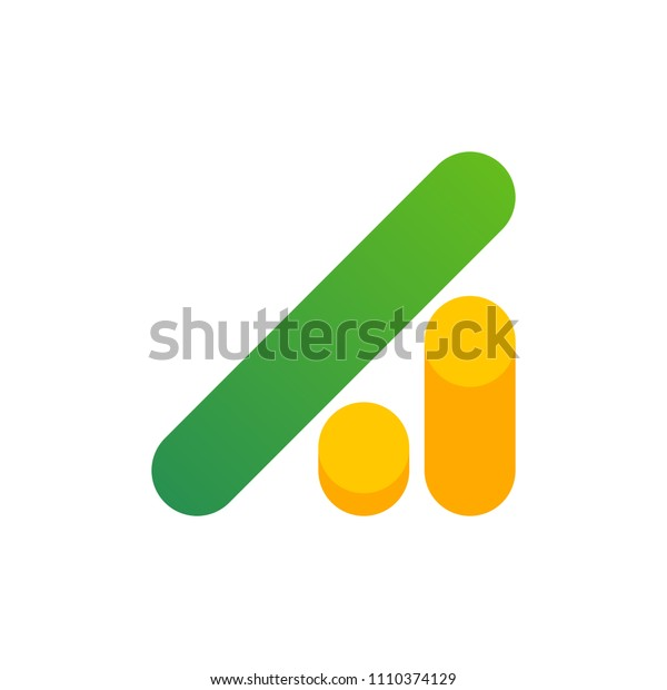 Modern logo template or icon of abstract letter A with coin stack for investment industry