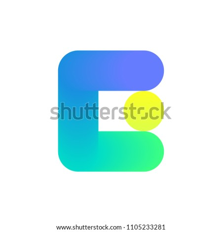 Modern Logo Template Icon Capital Letter Stock Vector Royalty Free