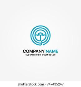 Modern Logo umbrella vector graphic design