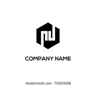 modern logo vector black color. pd initial