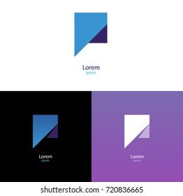 Modern logos. Cool geometric forms. Gradient. Comma logotype.