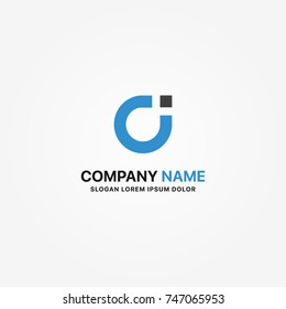 Modern logotype ci graphic design or single icon vector