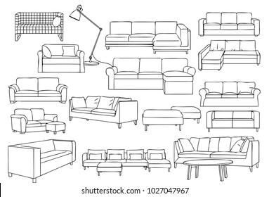 Modern Long Sofa
