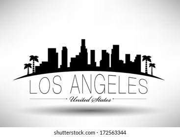 Modern Los Angeles City Skyline Design