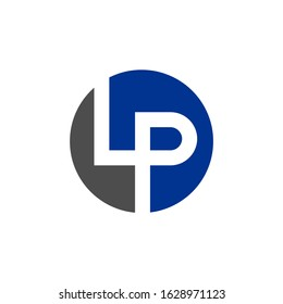 Modern LP letter logo.  Vector graphic.