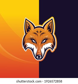modern and luxury fox vector logo template