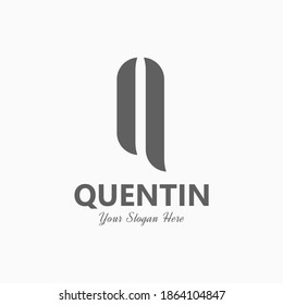 Modern Luxury Letter Q Logo Vector Template suitable for modern company or start up logo