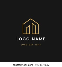 Modern luxury logo design, luxury logo background