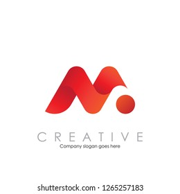 Modern M N logo design inspiration vector illustration