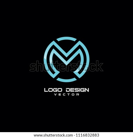 modern m symbol logo template stock vector royalty free 1116832883