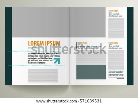 Templates For Pages   Modern Magazine Design Template Pages Stock Vektorgrafik Lizenzfrei
