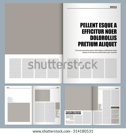 modern magazine layout template stock vector royalty free
