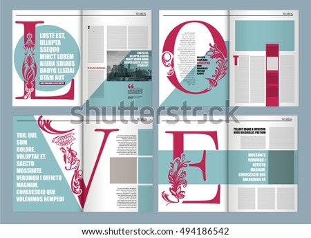 Modern Magazine Layout Template De Word Stock Vector Royalty Free