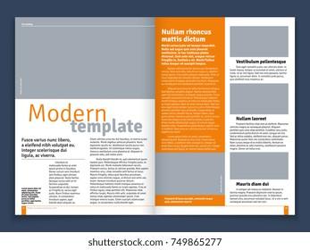newspaper design template vector financial articles のベクター画像