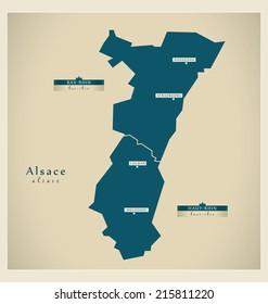 Modern map - Alsace FR