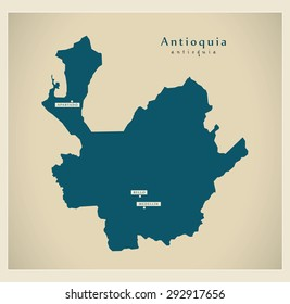 Modern Map - Antioquia CO
